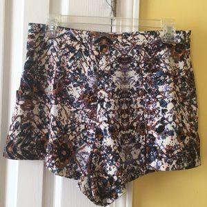 Flare multi color shorts